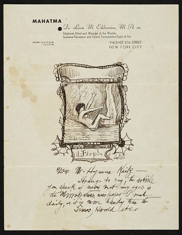 thumbnail image for Louis M. (Louis Michel) Eilshemius to Hyman Kaitz