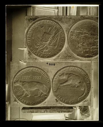 thumbnail image for Molds for the Bennington Vermont commemorative half dollar