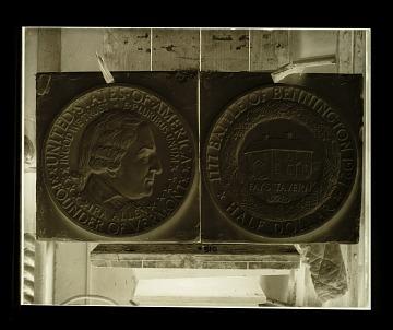 thumbnail image for Molds for the Bennington, Vermont commemorative half dollar