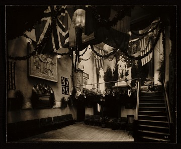 thumbnail image for Charles Keck's studio decorated for a party