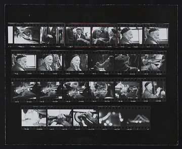 thumbnail image for Contact sheet with images of Frederick Kiesler