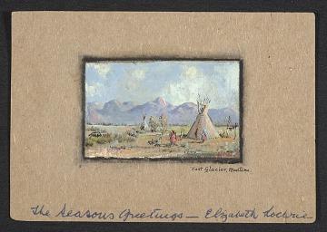 thumbnail image for Elizabeth Davey Lochrie Christmas card to W. Langdon Kihn