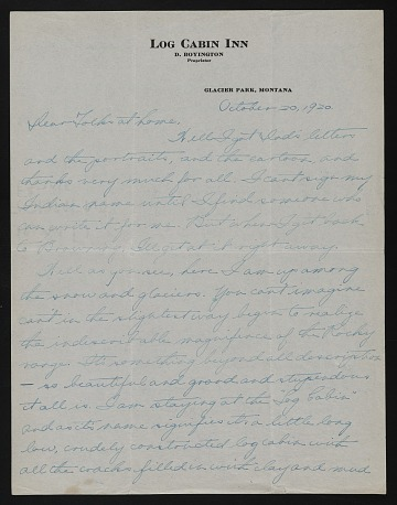 thumbnail image for W. Langdon Kihn letter to his parents