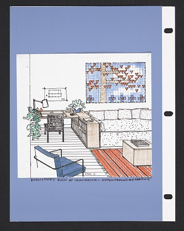 thumbnail image for Florence Knoll Bassett drawings and sketches