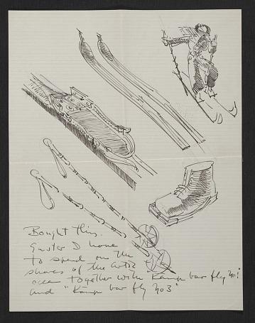 thumbnail image for Eero Saarinen, Helsingfors, Finland letter to Florence Knoll Bassett