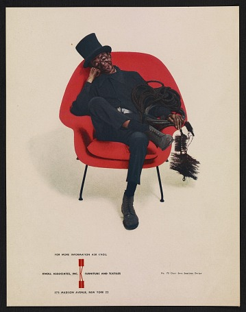 thumbnail image for Knoll Associates advertisement featuring the No. 70 chair by Eero Saarinen.