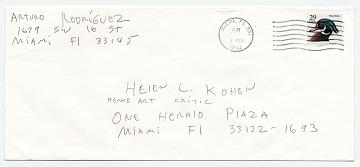 thumbnail image for Arturo Rodríguez, Miami, Fla. to Helen L. Kohen, Miami, Fla.