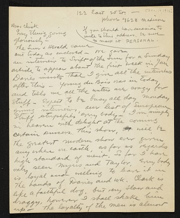 thumbnail image for Walt Kuhn, New York, N.Y. letter to Vera Kuhn