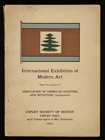 thumbnail image for Exhibit catalog for the <em>International Exhibition of Modern Art</em> at the Copley Society of Boston