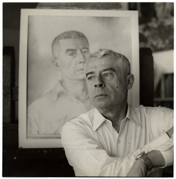 thumbnail image for Edward Laning with his self portrait