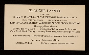 thumbnail image for Blanche Lazzell art classes announcement