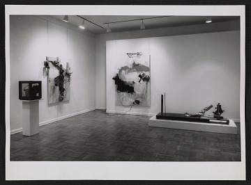 thumbnail image for An installation view of the Robert Rauschenberg show