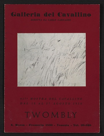 thumbnail image for <em>Twombly</em> catalogue from the Galleria del Cavallino