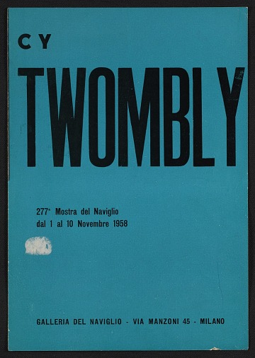 thumbnail image for <em>Cy Twombly</em> catalogue from the Galleria del Naviglio