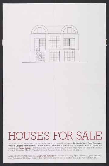 thumbnail image for <em>Houses for Sale</em> exhibition poster