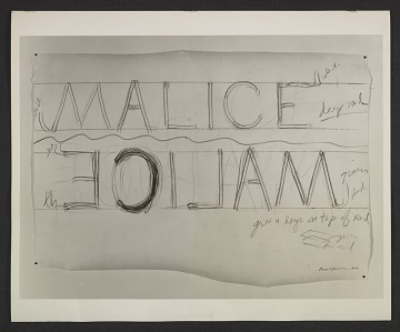 thumbnail image for Bruce Nauman, 'Drawing for Malice'