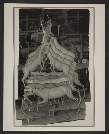 thumbnail image for Photocollage of model for Bruce Nauman's 'Animal Pyramid II'