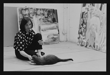 thumbnail image for Judith Linhares with cat