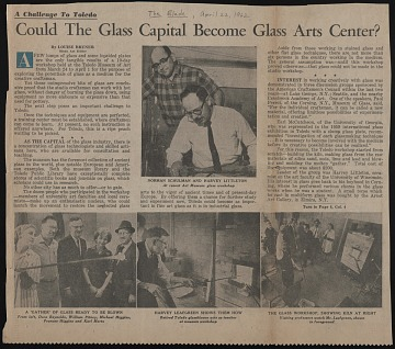 "thumbnail image for ""Could the Glass Capital Become Glass Arts Center?"" <em>The Toledo Blade</em>"