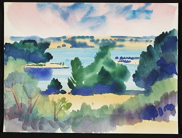 thumbnail image for Erle Loran landscape sketch