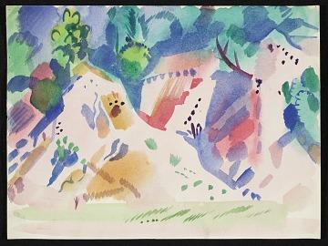 thumbnail image for Erle Loran landscape with cliffs