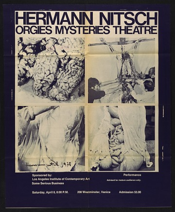 thumbnail image for Exhibition poster for Hermann Nitsch's <em>Orgies mysteries theatre</em>