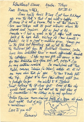 thumbnail image for Warren MacKenzie letters from Bernard and Janet Leach, 1960-1966 and undated