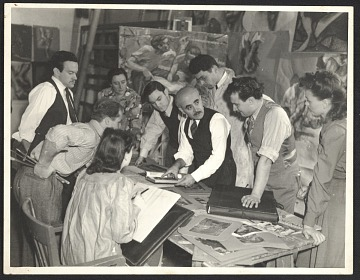 thumbnail image for Peppino Mangravite teaching a mural painting class at the Art Institute of Chicago
