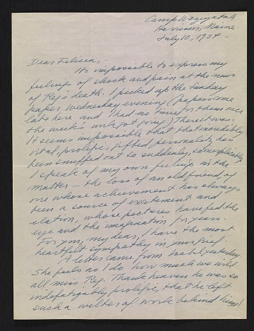 thumbnail image for Peggy Bacon letter to Felicia Meyer Marsh