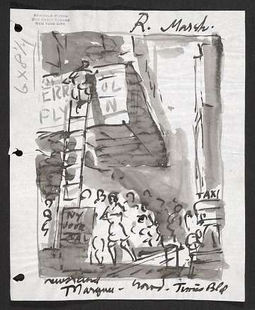 thumbnail image for Sketch of a theater marquee