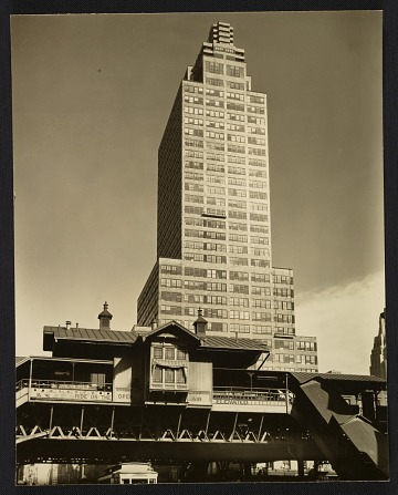 thumbnail image for A view of the McGraw-Hill building from 42nd St and 9th Avenue looking east