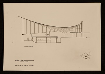 thumbnail image for Felix Candela's Capilla de Nuestra Senora de la Soledad ('El Altillo'). Plan and elevation