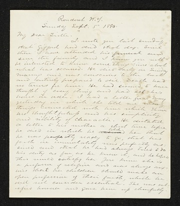 thumbnail image for Jervis McEntee letter to Mary McEntee Vaux