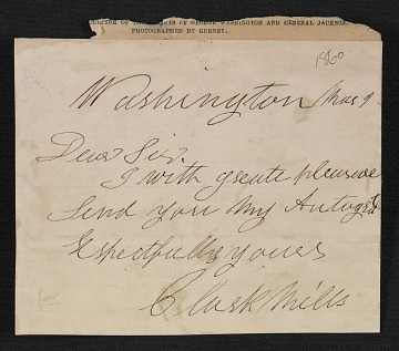 thumbnail image for Clark Mills letter to an unidentified recipient