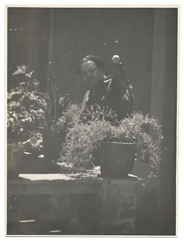 thumbnail image for Diego Rivera in his courtyard