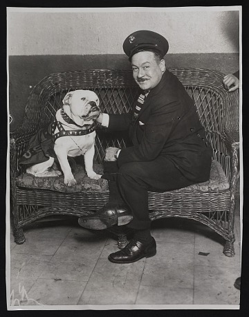 thumbnail image for George McManus with his dog, Jiggs