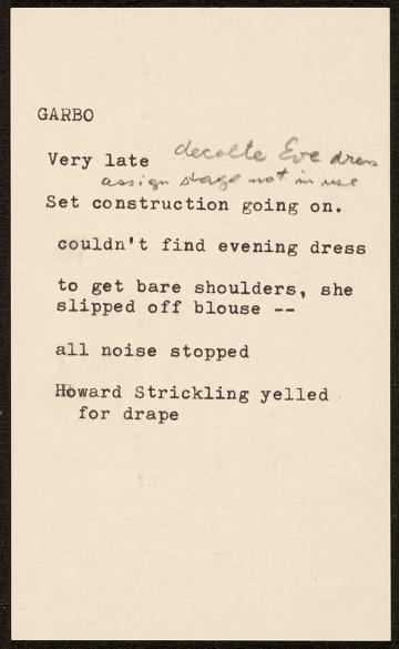 thumbnail image for Notes on Greta Garbo