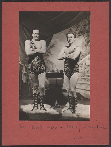 thumbnail image for Nickolas Muray and Ruzzie Green Christmas card