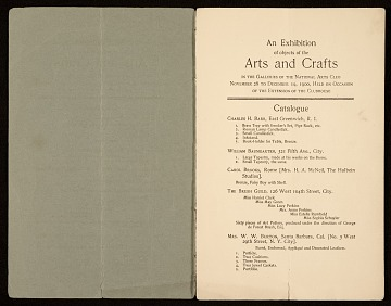 thumbnail image for National Arts Club records, 1898-1960