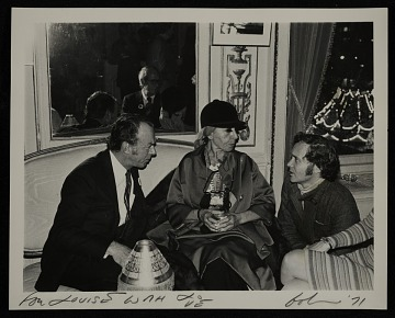 thumbnail image for Louise Nevelson and Robert Indiana at a party