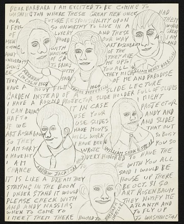 thumbnail image for Howard Finster letter to Barbara Shissler Nosanow