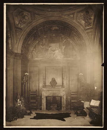 thumbnail image for Violet Oakley mural <em>The child and tradition</em> in the hall of Charlton Yarnall's house in Philadelphia