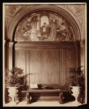 thumbnail image for Violet Oakley mural <em>Youth and the Arts</em> in the hall of Charlton Yarnall's Philadelphia home
