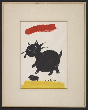 thumbnail image for Miné Okubo painting of a black cat