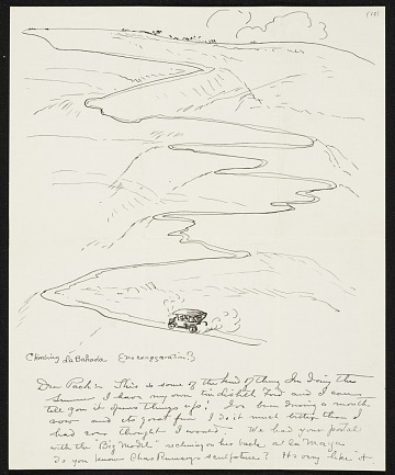 thumbnail image for John French Sloan letter to Walter Pach