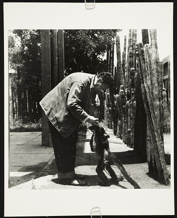 thumbnail image for Photograph of Diego Rivera with a spider monkey
