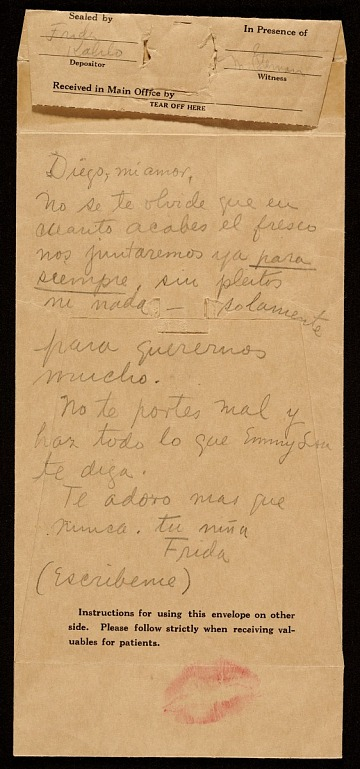 thumbnail image for Frida Kahlo letter to Diego Rivera