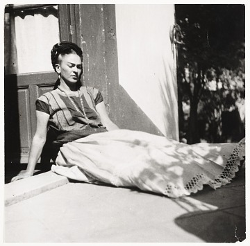 thumbnail image for Photograph of Frida Kahlo at her home in Coyoacan, Mexico