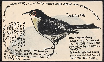 thumbnail image for Karl Priebe, Evansville, WI postcard to Klaus Perls, New York, N.Y.