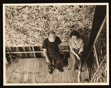 thumbnail image for Jackson Pollock and Lee Krasner in Pollock's studio